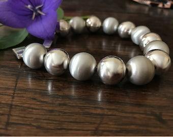 Sterling silver bracelet balls with 1.2 cm - 925 silver bracelet