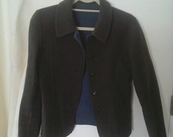 Boiled Wool Jacket Reversible