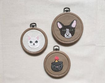 Cat Portrait (Hand Embroidery)