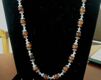 Brown/Silver Jewelry Set