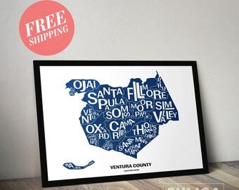18x24 Ventura County Art Map