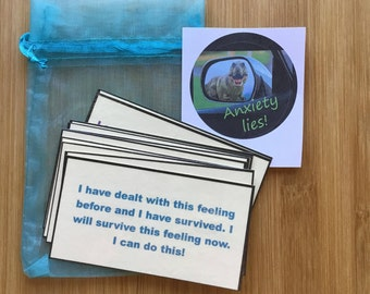 Anxiety affirmations, anxiety relief, mental health, Anti anxiety, self care, self love, Anxiety lies, Positive affirmation cards