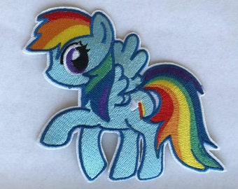 Rainbow dash iron on inspired patch, Rainbow dash inspired embroidery patch