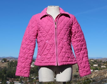 Kids Pink Quilted Jacket