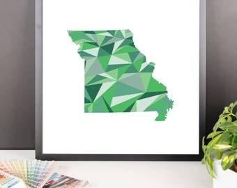 MISSOURI State Pattern Map Print, Missouri Poster, Missouri Wall Art, Missouri Art, Missouri Gift, Missouri Decor, Missouri Print, Missouri