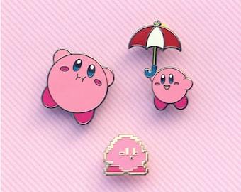 Kirby Enamel Pins (Umbrella & Puffy)