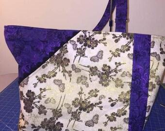 Golden purple bag