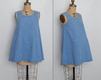 vintage 70s maternity top | blue aline tank