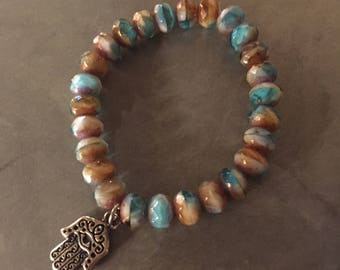 Ocean Hamsa Bracelet