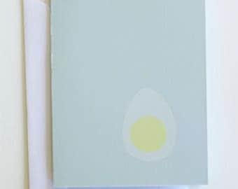 Hard boiled egg greeting card