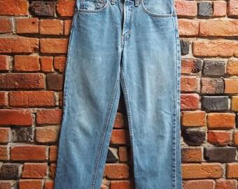 90s Levi's 516 Light Blue Denim Jeans Size W31 L32