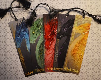 Dragons of Alagaësia Bookmark Set - Inheritance Cycle Bookmarks