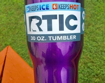 NEW RTIC 30oz Powder Coated Tumbler with Spill Proof Lid-Starlight Purple (Glitter/Sparkly Purple)