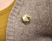 Icosahedron Pin