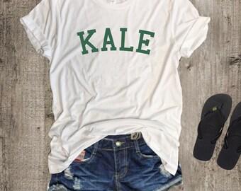 Kale, Kale tshirt, Kale shirt, Vegan Shirt , Kale Tee, Kale Top, Vegetarian T Shirt, save animals, vegan clothing , herbivore