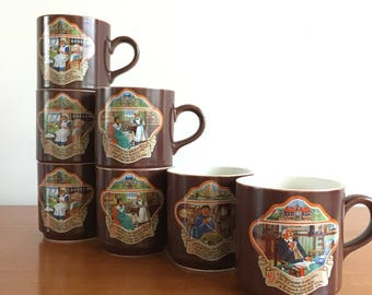 Villeroy and Boch Douwe egberts Coffee, total 7 pieces, 4 different designs.