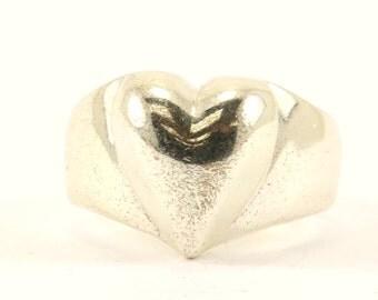 Vintage Heart Ring 925 Sterling Silver RG 2332