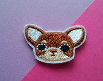 CHIHUAHUA DOG- Iron On Patch/Clothing Patch/Applique/Embroidered Patch/Jacket Patch/Animal Patch/Funny Patch/Sewing Supplies/Easter