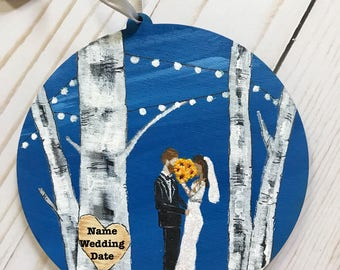 Personalized Wedding Ornament - Unique Wedding Gift - Bride Gift From Mother - Custom Bride Groom Gift - Engagement Gift