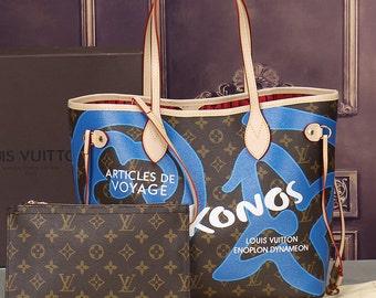 RESERVED louis vuitton enoplon dynameon Neverfull Tote- Logo Wallet- Dust Bag- Also Authentic lv Louis Vuitton Satin Satin Shoe Blue Purple
