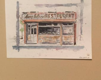 Long Island Restaurant painting
