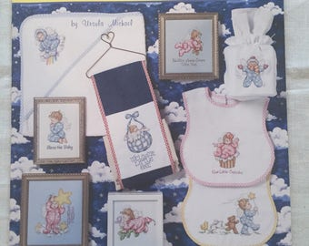 Pitter Patter #4 Baby Cross stitch Patterns; Jeanette Crews Designs