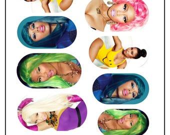Nicki Minaj Rainbow Nail Wraps