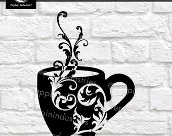 Coffee Svg, Coffee Mug, Coffee Sign, Coffee Svg Files, Coffee Design, Coffee Decals, Cricut Designs, Svg Files for Cricut, Printable, Decals