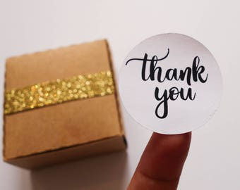 Thank You Stickers, Pk of 24, Wedding Gift Stickers, Bomboniere Sticker, Thank You, Small Business Stickers, Order Stickers, Custom, Thanks