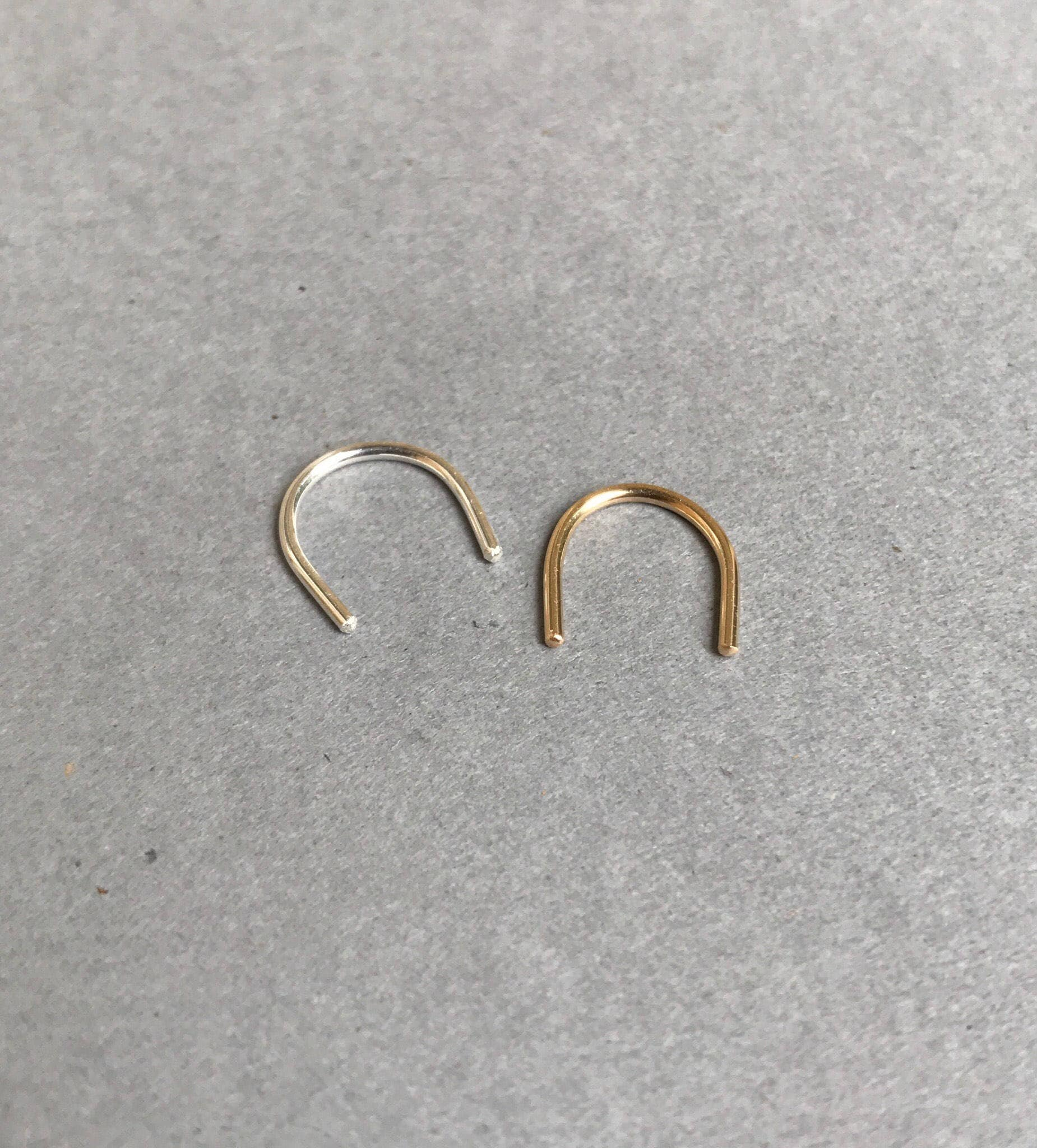 how to put in nose ring retainer