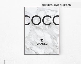 coco chanel poster etsy. Black Bedroom Furniture Sets. Home Design Ideas