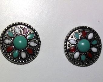 Small tribal stud earrings