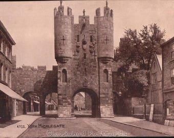 York Micklegate ~  Vintage Postcard. ~ Not Posted ~ 1900's.