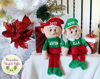 Personalized Elf Doll Plush. Boy Elf, Girl Elf, Personalized Plush, Christmas Elf, Custom Elf Doll, Custom Plush, Custom Christmas Elf