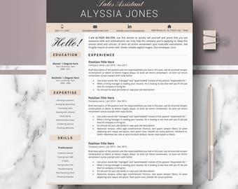 Resume; CV, Resume template; Modern resume; Creative & Professional resume template | CV modern template for word; Instant Download resumes