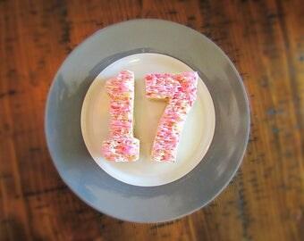 Rice Krispies Treats/rice krispie treats/customizable/graduation/homemade/party/marshmallow/fluffy/soft/kids parties/birthdays