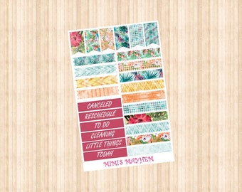 Tropical Banners & Flags // Happy Planner // Erin Condren //Personal