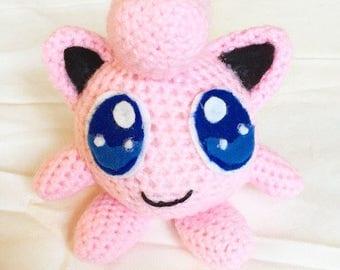 Handmade Crochet Pokemon Knitted Gigglypuff Toy