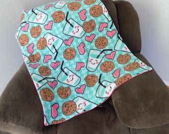 Cookies and Milk Toddler Fleece Blanket - Cookies N' Milk