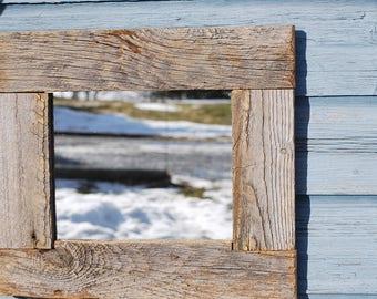 Reclaimed wood/barnwood/barn wood mirror