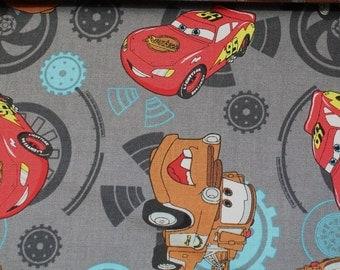 Kids fabric, cars, lightning Mcqueen car