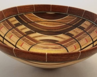 Ragamuffin #2 - Laminated Segmented Wooden Bowl