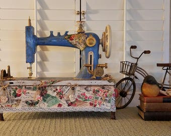 Eldrege Damascus Antique Sewing Machine-Antique Sewing Machine-Art