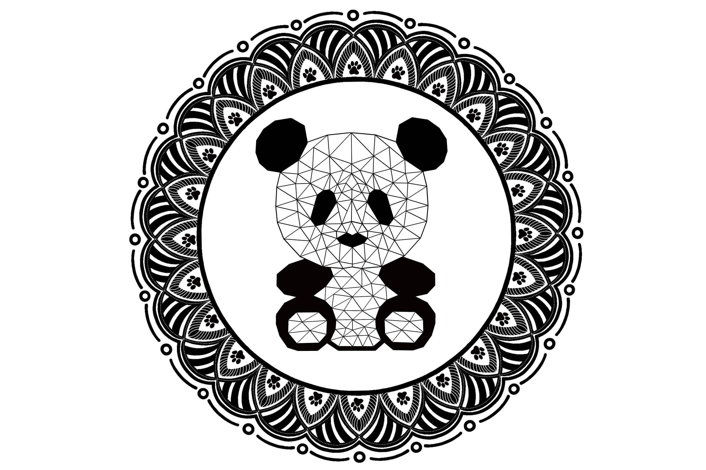 Panda Polygonal Mandala Polygonal Panda Geometric Panda