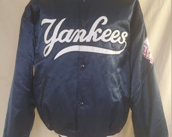 New York Yankees - Vintage Satin Starter Jacket - Large L - VGUC
