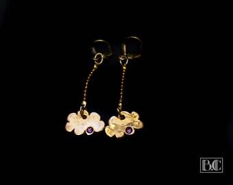 Ormolu cloud earrings