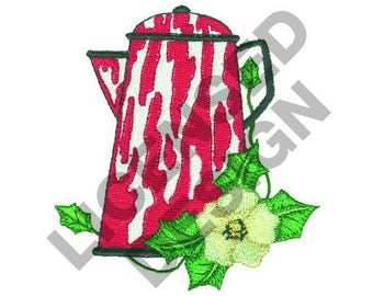 Enamel Pitcher - Machine Embroidery Design
