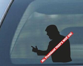 Mr. President!  Yelling is not OK!