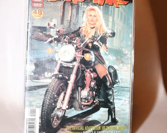 Pamela Anderson Barb WIRE 1996 Cult Comic Book Action Film Baywatch 1990s Triumph Motorcycle