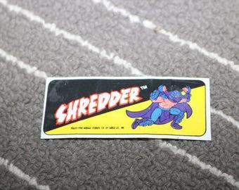 Teenage Mutant Ninja Turtles Stickers Shredder April O'Neil 1990 Vintage Topps TMNT 90s Mirage Studios Sewer